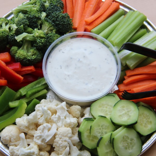 Veggie Tray and Ranch Dip